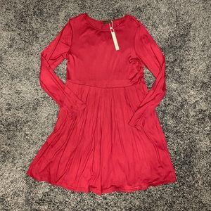 🍁Final Price ⬇️Maroon long sleeve pocket dress